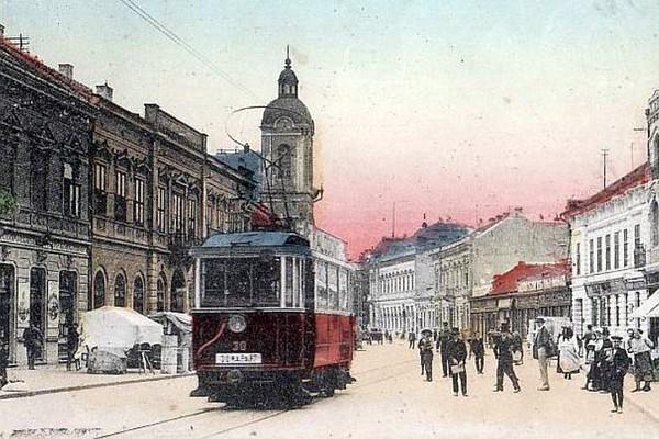 Ова слика има празан alt атрибут; име њене датотеке је Kralja-Aleksandra-ka-Jermenskoj-crkvi-oko-1912-vidi-se-Menratova-palata.jpg