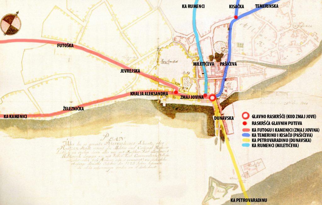Ова слика има празан alt атрибут; име њене датотеке је karta-1745-sa-glavnim-pravcima-i-ulicama-1024x654.jpg