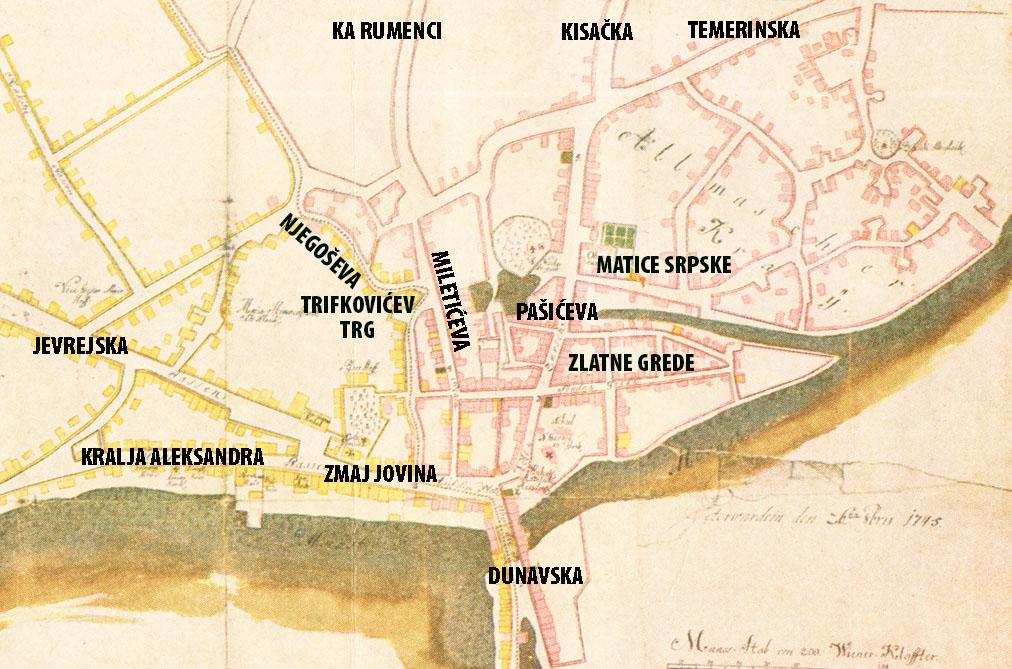 Ова слика има празан alt атрибут; име њене датотеке је karta-1745-sa-glavnim-pravcima-i-ulicama-MATICA.jpg