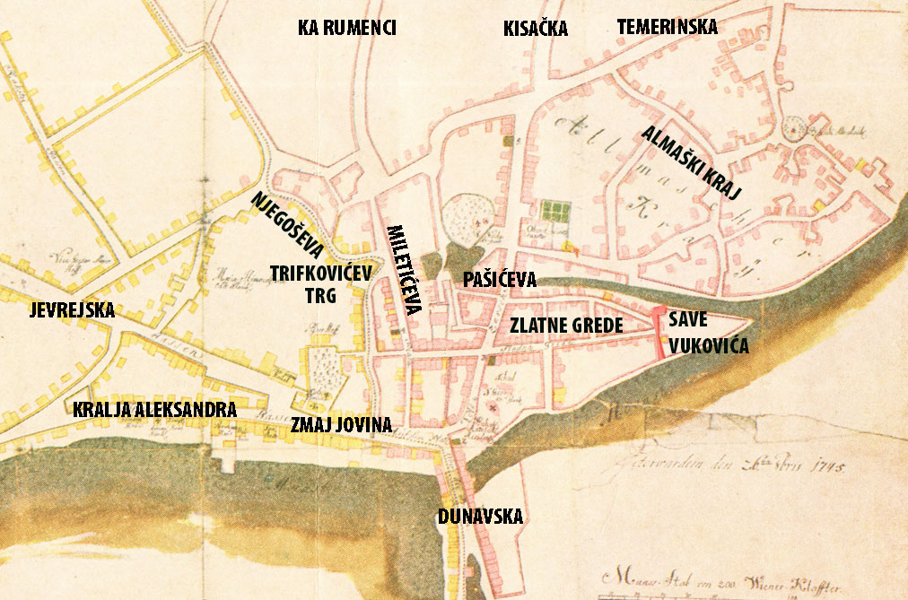 Ова слика има празан alt атрибут; име њене датотеке је karta-1745-sa-glavnim-pravcima-i-ulicama-SAVE.jpg