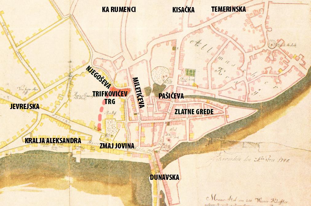 Ова слика има празан alt атрибут; име њене датотеке је karta-1745-sa-glavnim-pravcima-i-ulicama-TRIFKO.jpg