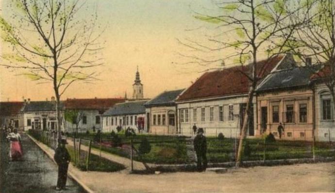 Ова слика има празан alt атрибут; име њене датотеке је trifkovicev-trg-1900-obojena.jpg